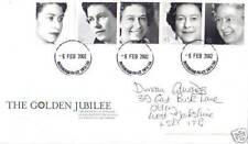 6 de febrero 2002 de oro Jubileo RM FDC Palacio de Buckingham Tribunal Cds
