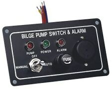 Bilge Pump Marine LED Switch Panel With Fuse & Alarm12 Volt Switch Panel New