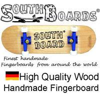 Komplett Fingerskateboard N/BL/WS - SOUTHBOARDS® Handmade Wood Fingerboard Holz