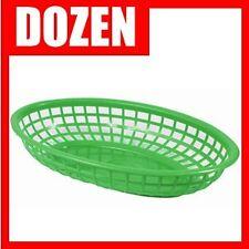"Dozen New Green Fast Food Basket - 9 1/4"" X 5 3/4"""