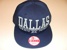 New Era Hat Cap NFL Football Dallas Cowboys Lateral Snapback Hat Adjustable OSFM