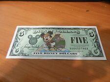 2001- 5 Disney Dollars, California Adventure Park, A 00453786 A