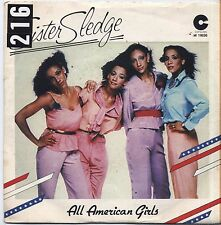 "SISTER SLEDGE - All amrerican girls - VINYL 7"" 45 LP ITALY 1981 VG+ COVER VG-"