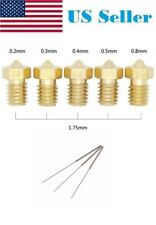 Assorted Brass Nozzle 1.75/3mm 3D Printer V5&V6 J-Head w/ drill needle cleaner