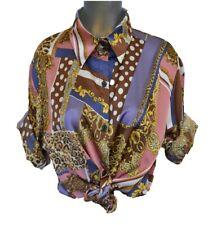 New Season Versace Barocco T shirt for Ladies Free Size Pink Batik Print Sleeve