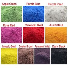 Cosmetic Grade Natural Mica Powder Soap Candle Colorant Dye Red, Blue, Black