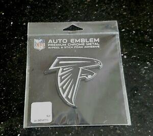"Atlanta Falcons Premium Chrome Metal Auto Decal Badge Emblem NFL Official 3""x3"""