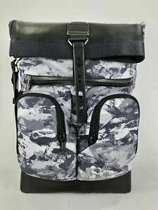 NEW Tumi Men's Alpha Bravo London Roll-Top Backpack, ARTIC RESTORATION