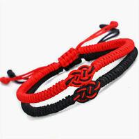 Tibetisch Schmuck Knoten Rotes Seil Armband mit roten Stringen Weave Bangle