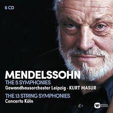 Sinfonie 1-5/Streicher sinfonie COLLECTOR 'S EDITION 6cd NUOVO Mendelssohn