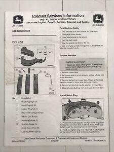 John Deere 54C Mulch Kit Installation Instructions