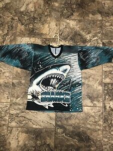 VINTAGE San Jose Sharks Hockey Jersey Adult Large Fanimation NHL Hockey Men 90s.