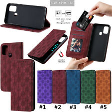 For Samsung Galaxy M10 M21 M31 A11 Magnetic PU Leather Flip Wallet Case Cover