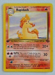 RAPIDASH #44/64 1st Edition POKEMON Jungle Card Good Condition