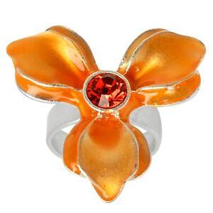 NEW PILGRIM SKANDERBORG, DENMARK  ajustable Ring orange