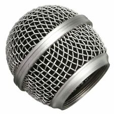 Replacement Silver Mesh Microphone Grill Head For Shure SM 58 Similar Durable