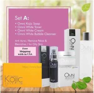 Omni Facial Set A-Anti Acne/Remove Pekas, Blemishes For Oily Skin - 100% Natural