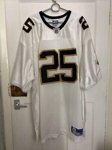 Vintage Authentic Sewn Reebok Reggie Bush New Orleans Saints Jersey Size 58