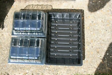 24 CELL PLANT SEED PROPAGATOR 2 x 12 CELL ROOT TRAINERS & LIDS, 1 x HD SEED TRAY
