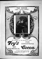 Old Antique Print 1904 Fry'S Cocoa Lemco Cookery Rozhdestvensky Tangier 20th