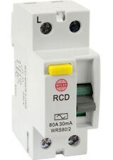Wylex 80 Amp 30mA D.P RCD WRS80/2 ! New !