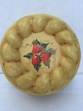 KREAMER 100 JELLY MOLD Rustic Tin Rare Vintage Hand Painted  Signed Strawberry