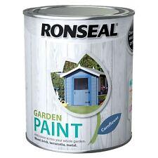 Ronseal 2.5 Litre Garden Paint Rainproof Exterior Wood Metal Brick - Cornflower