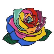 Pin love is love rainbow kaleidoscope flower enamel brooch jewelry gift pins