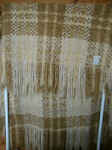 Vintage PotteryBarn Blanket Made in USA Pottery Barn Chunky Faux Mohair Throw