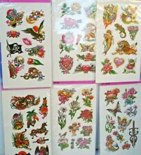 Temporary Tattoo Lot 0F 12 Cards.800B Carnivals, Parties Toys Favors