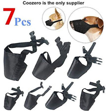 Dog Muzzles Suit, 7 Pcs Anti-Biting Barking Pet Muzzles Adjustable Dog Muzzle -