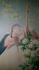 Vintage 60er Flamingo Bild Kunstdruck Vernon Ward  Mid Century Flamingos