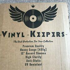 "20 x 12"" Inch LP Album Vinyl Keepers Polythene Record Sleeves Heavy Gauge 450g"