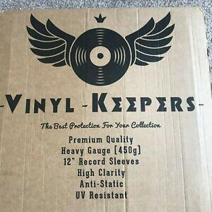 "10 x 12"" Inch LP Album Vinyl Keepers Polythene Record Sleeves Heavy Gauge 450g"