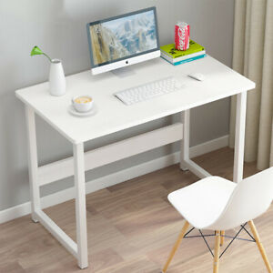 White Small Compact Computer Desk PC Table Workstation Home Office Study Writing