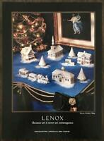 1992 Lenox China Christmas PRINT AD Holiday Village Art is Never An Extravagance