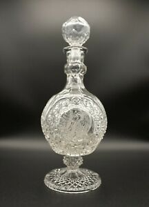 Hofbauer Byrdes Crystal Footed Decanter w/ Stopper - Damaged - Made in Germany