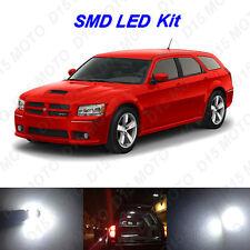 11 x White LED interior Bulbs + License Plate Lights for 2005-2008 Dodge Magnum
