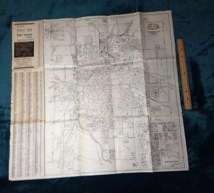 FORT WAYNE INDIANA STREET MAP CITY BLUEPRINT 1930s? 1940s? VINTAGE RARE POCKET