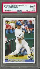 2002 Donruss Originals Alex Rodriguez # 139 PSA 9 Mint