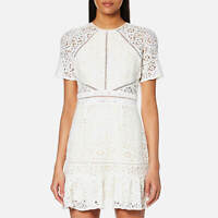NWT Foxiedox Ladies X-Small UK 6/8 White Lace Short Summer Edne Dress SI274DR