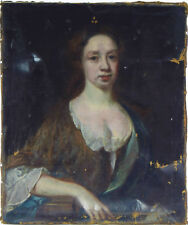 PORTRAIT OF A LADY STUNNING 17th CENTURY OIL PAINTING ON CANVAS BY WILLIAM GANDY
