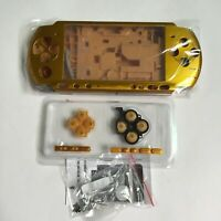 New Full Housing Shell Replacement for Sony PSP 3000 Console Faceplate Case-Gold
