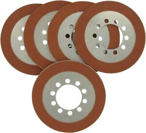 Drag Specialties Organic Friction Clutch Plate Kit 5 Plates for Shovelhead 68-84