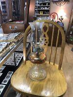 Vintage 1950's Brand Kerosene Glass Lamp