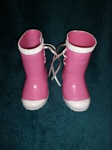 ALEXANDER Pink And White Rain Rubber Boots for Large Doll