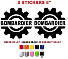 "(#332) 8"" Bombardier ski-doo,Moto-ski,brp,can-am  sticker decal  ( SET OF 2 )"