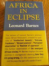 Afirca In Eclipse by Leonard Barnes Hardback Book Marocco Libya Algeria Ethiopia