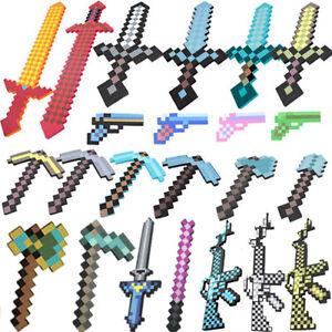 Minecraft Spielzeug Diamant Schwert Spitzhacke Waffen Modell Figures My World