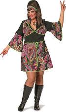 Hippie Lady XXL Kostüm NEU - Damen Karneval Fasching Verkleidung Kostüm